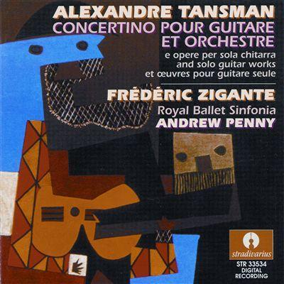 Cover Alexandre TANSMAN concertino pour guitare et orchestre Frederic Zigante