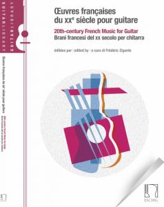 Cover Oeuvres françaises du XXe siècle pour guitare by Frédéric Zigante