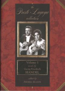 The Presti-Lagoya Collection Handel Vol. 1 by Frédéric Zigante