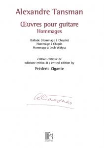 Cover Alexandre Tansman by Frédéric Zigante