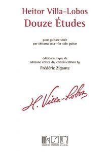 Cover Villa Lobos Douze etudes by Frédéric Zigante