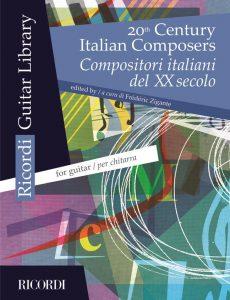 cover XX century italian composer guitar by Frédéric Zigante